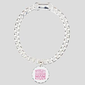 World's Okayest Mom [v. pink] Charm Bracelet, One